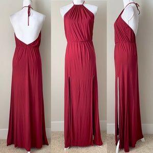 Lovers + Friends Red Halter maxi dress